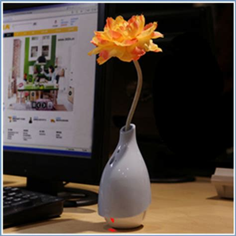 Fancy Home Air Humidifier Flower Mini Vase 160 Ml Pink Decoration Vase And Flowers Mini Air Humidifier And