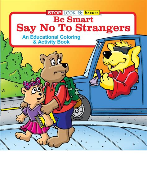 strangers how to date like a books be smart say no to strangers coloring book china