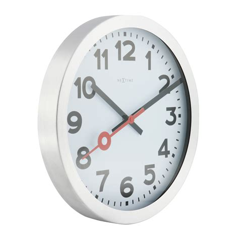buy clock buy station radio controlled wall clock white online