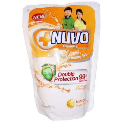 Sabun Nuvo nuvo liquid soap pouch gold 450ml