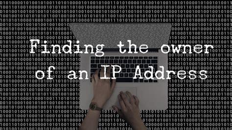Search For Ip Address Owner Investigator News Stories Thoughts And