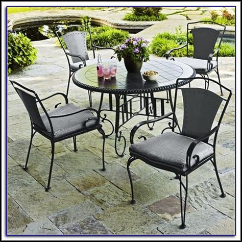 Used Patio Table by Wrought Iron Patio Table Patios Home Decorating Ideas