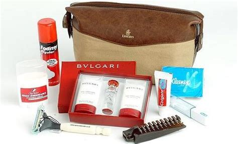 Travel Kit Bvlgari Edition From Emirates Airlines other travel accessories bvlgari emirates business class mens flight wash bag was sold for