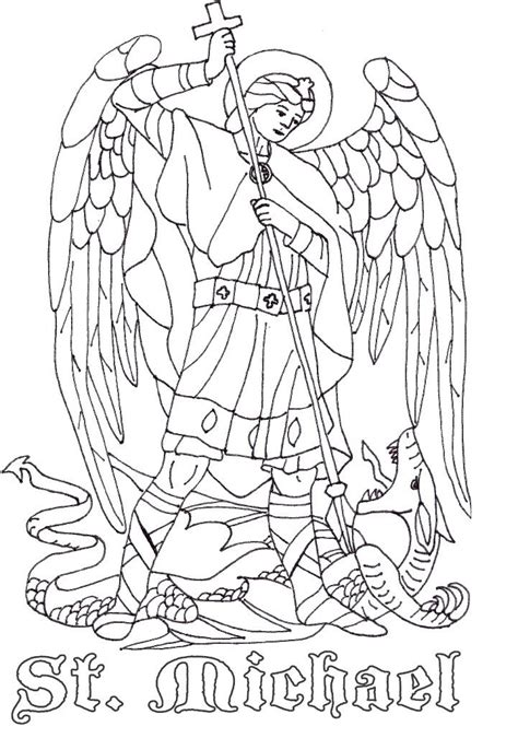 St Coloring Page Catholic St Michael The Archangel Catholic Coloring Page Catholic