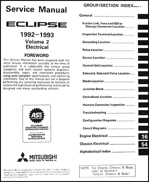 service manual 1993 mitsubishi eclipse factory service manual maintenance schedule for 1993