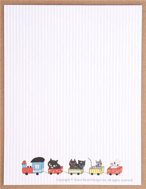 Letter Paper Set stripe cat shinzi katoh letter paper set japan letter