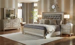 samuel 4 pc panel bedroom set in platinum finish