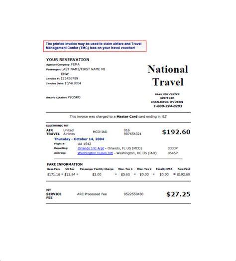 travel invoice templates  docs excel  premium templates