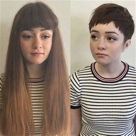pixie cut before and after 244 best images about pixie love on pinterest emma