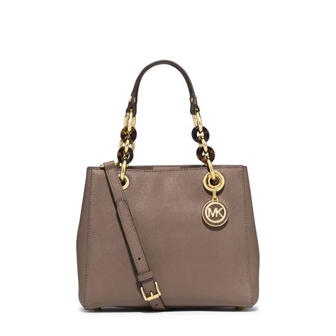 Small Satchel by Lyst Michael Kors Cynthia Small Leather Satchel In Metallic