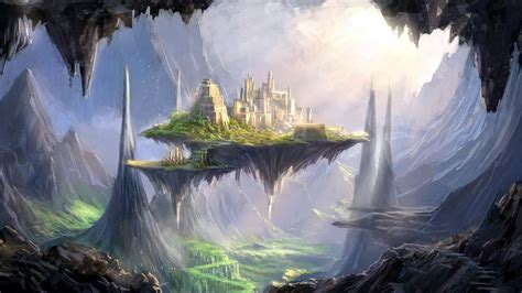 wallpaper abyss fantasy city city wallpaper and background image 1600x900 id 205967