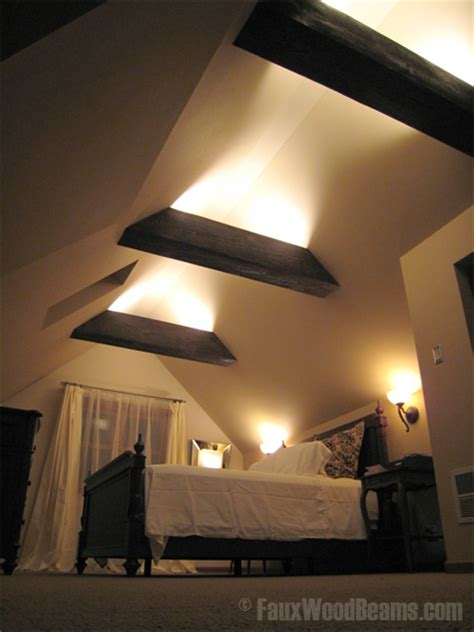 sleep well with bedroom ceiling beams faux wood workshop