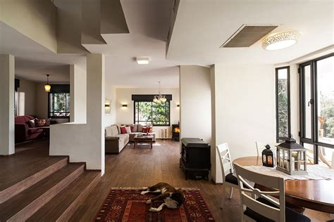creative home interiors renovated israeli house utilizes recycled decor to usher