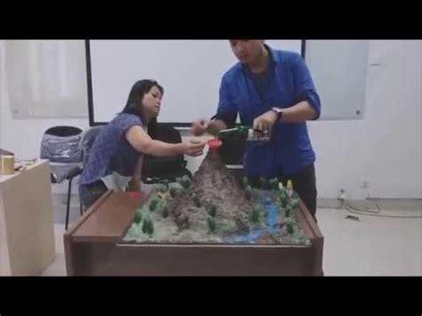 cara membuat gelang anak gunung simulasi belajar geografi cara membuat erupsi gunung api