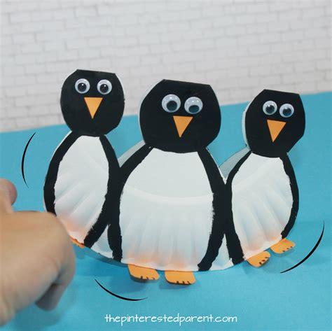 Penguin Paper Crafts - rocking paper plate penguins the pinterested parent