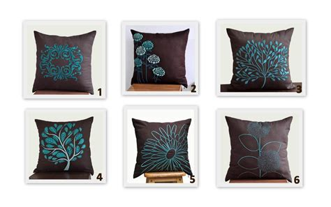 brown teal pillows brown teal turquoise throw pillow covers set of 2 pillow