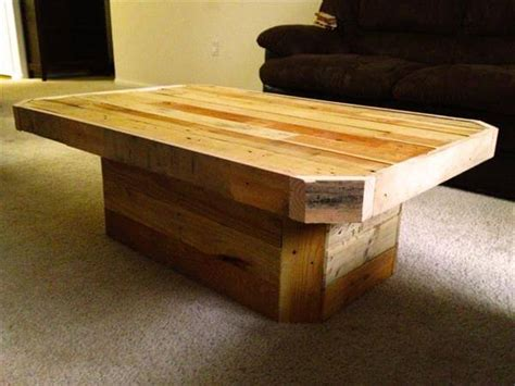 Pallet Wood Coffee Table Diy Pedestal Pallet Coffee Table Pallet Furniture Diy