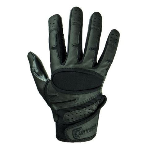 cutters endurance baseball gloves all black small