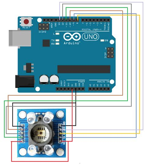 arduino color sensor color sensor gy 31 hackster io