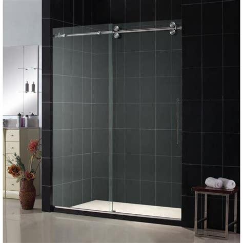 Shower Sliding Glass Doors Frameless 22 Best Sliding Glass Shower Doors Images On Pinterest Luxury Bathrooms Bathrooms Decor And