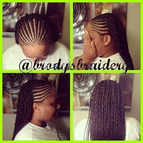 cornrow hair with unbraided ends cornrows senegalese twist at end hair pinterest