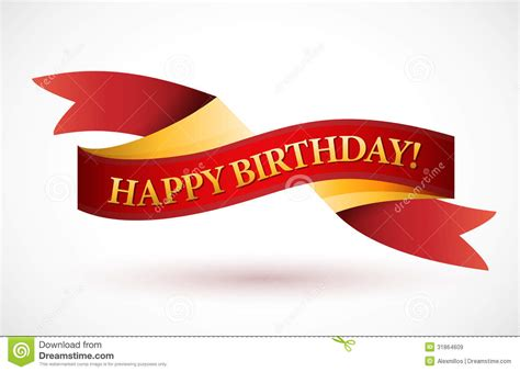 happy birthday red design happy birthday red waving ribbon banner royalty free stock