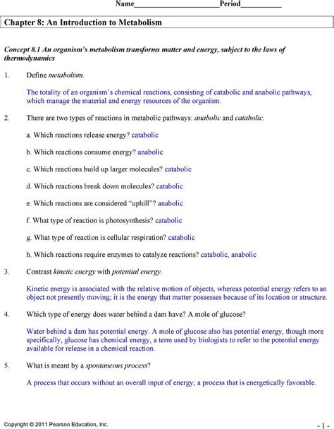 section 8 1 energy and life pages 201 203 section 8 2 photosynthesis sectional ideas