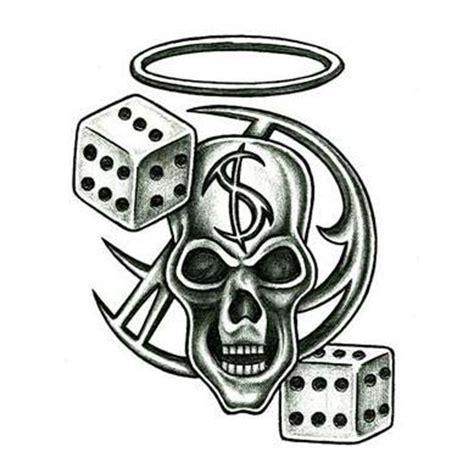 N 8 Black collection of 25 skull guns 8 n dice design