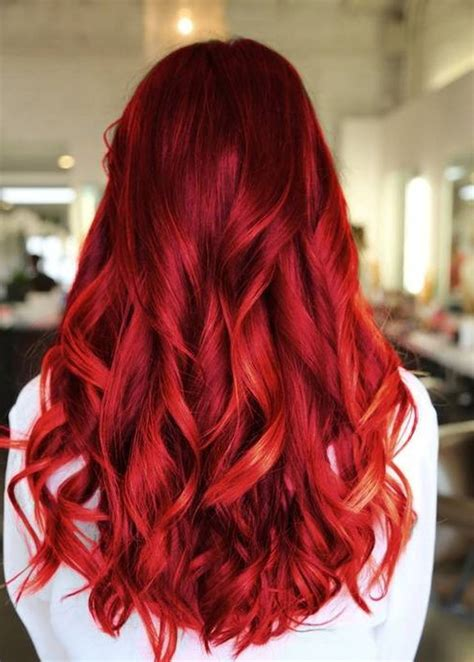bold color bold red hair color hair style and color for woman