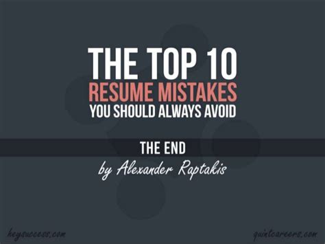 top 10 resume mistakes avoid these 10 resume mistakes