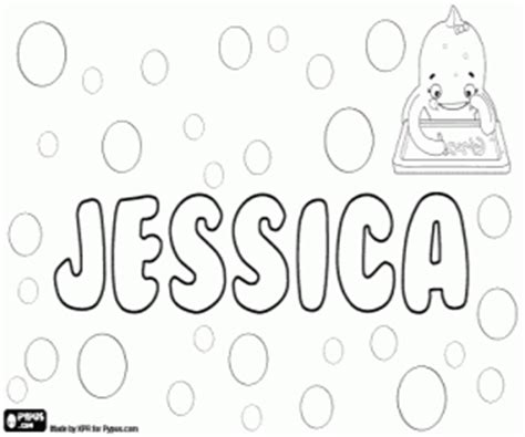 coloring pages of the name jessica girl names with j coloring pages printable games