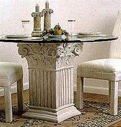 roman columns for home decor museumize square fluted corinthian table base classical