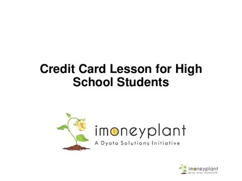Credit Card For New Mba Students by Credit Card Lessons For High School Students