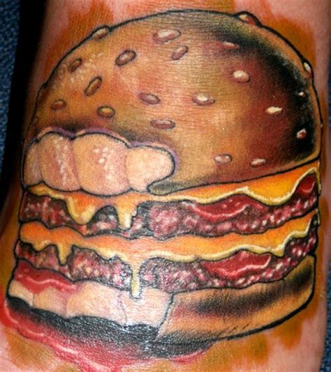 hamburger tattoo hamburger tattoos 11 pics izismile