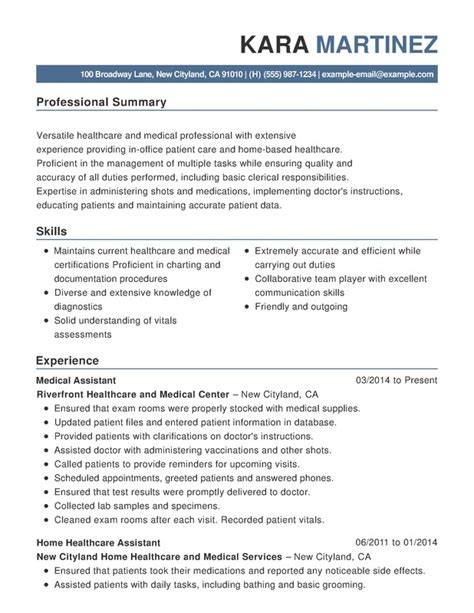 Career Resume Examples by Healthcare Amp Medical Functional Resumes Resume Help
