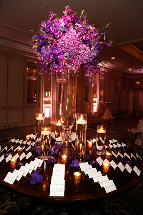 Flower Ideas Gold Wedding by Pics For Gt Purple And Gold Wedding Centerpieces