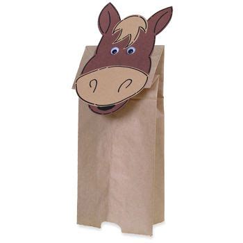 paper bag donkey pattern paper bag horse puppet horse face craft with horse