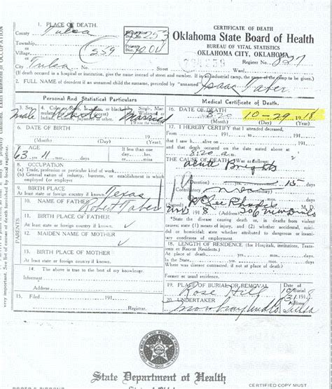 Oklahoma Birth Records Genealogy Rdfulks Genealogy For Isaac Newton Taber