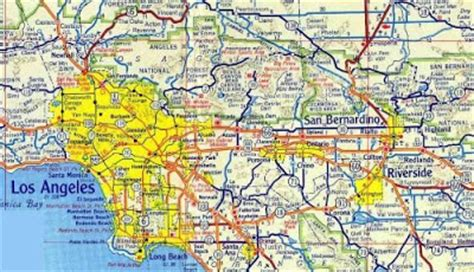 southern california highway map freeways highways and toll roads major lakes rivers time