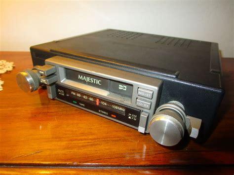 car radio cassette car radio cassette vintage majestic 1970s