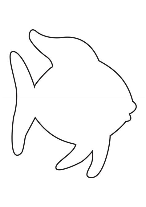 Rainbow Fish Template rainbow fish coloring pages for az coloring pages