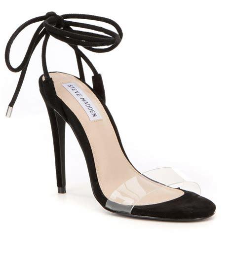Steve Madden Clear Heels by Lyst Steve Madden Lyla Ankle Tie Dress Sandals In Black