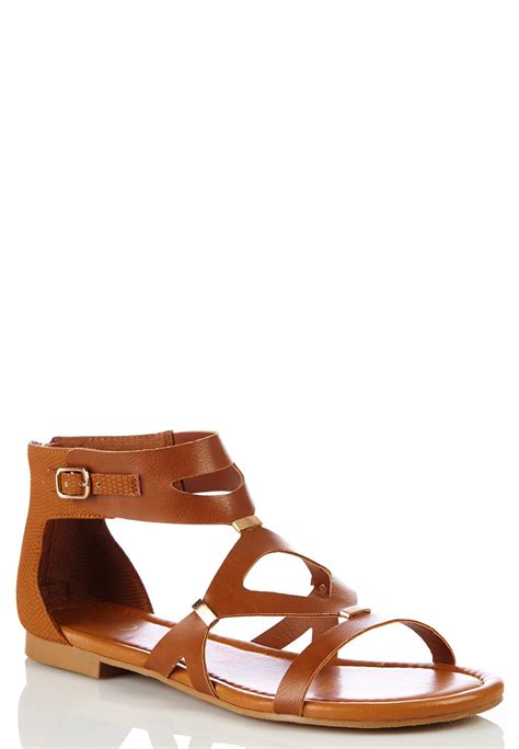 wide sandals wide width cutout gladiator sandals wide width cato fashions