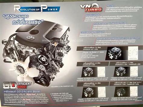 Tutup Egr Innova Fortuner Hilux Diesel 2016 toyota hilux revo brochure leaked report