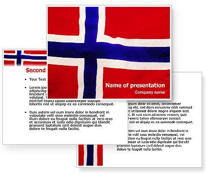 powerpoint themes norway flag of norway powerpoint template poweredtemplate com