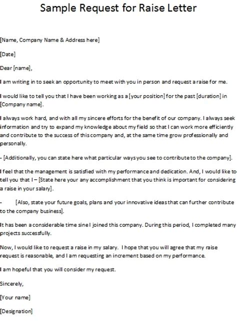 Company Raise Letter Sle Request For Raise Letter