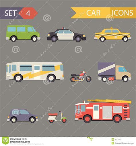 icon design cars retro flat car icons set vector royalty free stock