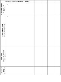 LLI Anchor Charts Skills Assessment Lesson Plan Template