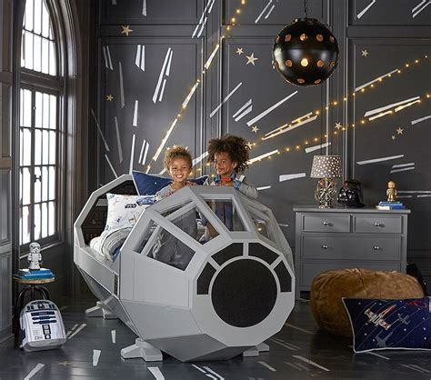 pottery barn star wars bedding pottery barn millennium falcon cockpit bed the priciest
