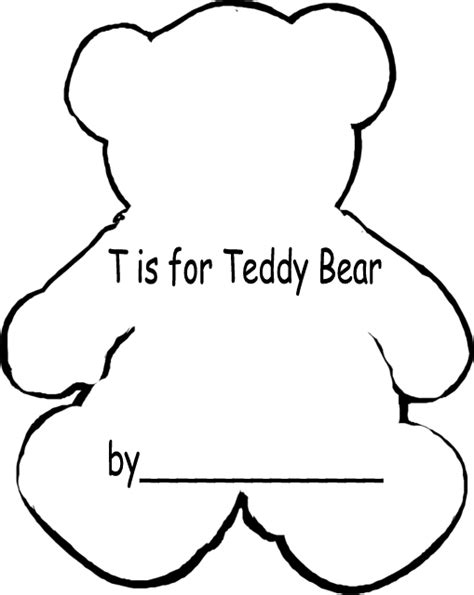 teddy templates free printable abcteach printable worksheet t is for teddy cover page